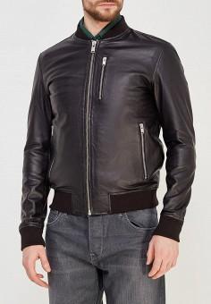 Куртка кожаная, Selected Homme, цвет: черный. Артикул: SE392EMZBH54. Одежда / Верхняя одежда / Кожаные куртки