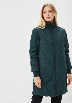 Пуховик, Selected Femme, цвет: зеленый. Артикул: SE781EWBRHB7. Одежда / Верхняя одежда / Зимние куртки