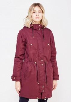 Парка, Selected Femme, цвет: бордовый. Артикул: SE781EWYYA30. Одежда / Верхняя одежда / Парки