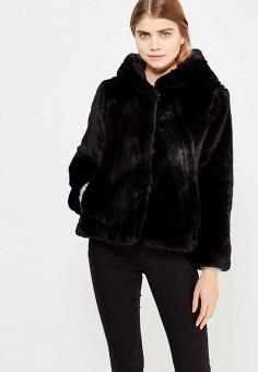 Шуба, Sisley, цвет: черный. Артикул: SI007EWXOB51. Одежда / Верхняя одежда