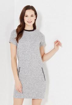 Платье, SK House, цвет: серый. Артикул: SK007EWXXI32. Одежда / Платья и сарафаны