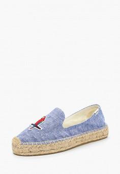 Эспадрильи, Soludos, цвет: голубой. Артикул: SO023AWANFD2. Обувь