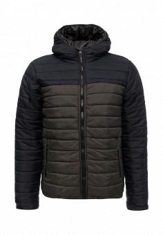 Куртка утепленная, Soulstar, цвет: серый. Артикул: SO041EMXMM66. Мужская одежда / Верхняя одежда / Пуховики и зимние куртки