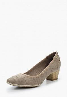 Туфли, s.Oliver, цвет: бежевый. Артикул: SO917AWAJHO3. Обувь / Туфли / Закрытые туфли