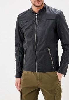 Куртка кожаная, Solid, цвет: черный. Артикул: SO999EMARNK6. Одежда / Верхняя одежда / Кожаные куртки