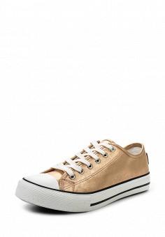 Кеды, Springfield, цвет: золотой. Артикул: SP014AWRLB37. Обувь / Кроссовки и кеды / Кеды