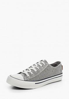 Кеды, Springfield, цвет: серый. Артикул: SP014AWTBK00. Обувь / Кроссовки и кеды / Кеды