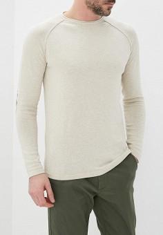 Джемпер, Springfield, цвет: бежевый. Артикул: SP014EMAIKK5. Одежда / Джемперы, свитеры и кардиганы