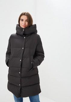 Пуховик, Springfield, цвет: черный. Артикул: SP014EWCDEU1. Одежда / Верхняя одежда / Зимние куртки