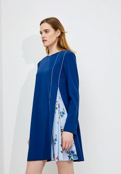 Платье, Sportmax Code, цвет: синий. Артикул: SP027EWADSA6. Premium / Одежда / Платья и сарафаны