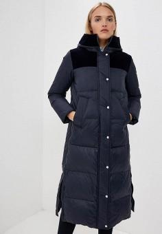 Пуховик, Sportmax Code, цвет: синий. Артикул: SP027EWBSXJ3. Одежда / Верхняя одежда / Зимние куртки