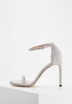 Босоножки, Stuart Weitzman, цвет: серый. Артикул: ST001AWZFF27. Premium / Обувь / Босоножки