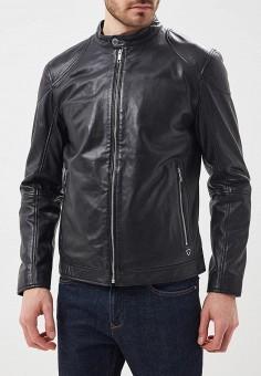 Куртка кожаная, Strellson, цвет: черный. Артикул: ST004EMAWXV8. Одежда / Верхняя одежда / Кожаные куртки