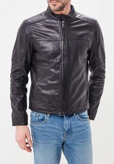 Куртка кожаная, Strellson, цвет: черный. Артикул: ST004EMAXHF3. Одежда / Верхняя одежда / Кожаные куртки