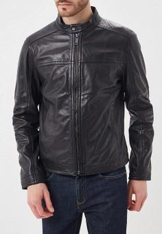 Куртка кожаная, Strellson, цвет: черный. Артикул: ST004EMAXHF5. Одежда / Верхняя одежда / Кожаные куртки