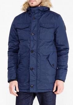 Куртка утепленная, Staff Jeans & Co., цвет: синий. Артикул: ST051EMYFS50. Одежда / Верхняя одежда / Пуховики и зимние куртки