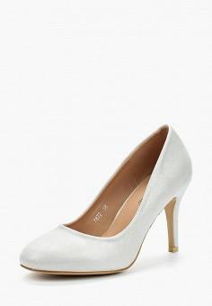 Туфли, Super Mode, цвет: серый. Артикул: SU013AWBBDL7. Обувь / Туфли / Закрытые туфли