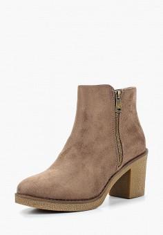 Ботильоны, Super Mode, цвет: коричневый. Артикул: SU013AWCOJB1. Обувь