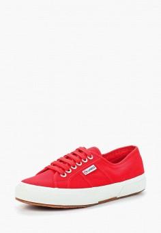 Кеды, Superga, цвет: красный. Артикул: SU014AUAVIG4. Обувь / Кроссовки и кеды / Кеды