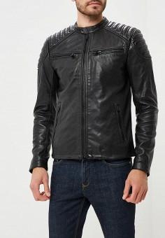 Куртка кожаная, Superdry, цвет: черный. Артикул: SU789EMBYPL8. Одежда / Верхняя одежда / Кожаные куртки