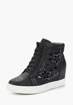 Кеды на танкетке, Sweet Shoes, цвет: черный. Артикул: SW010AWAZQC5. Обувь / Кроссовки и кеды / Кеды