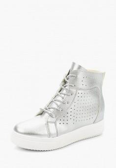 Кеды на танкетке, Sweet Shoes, цвет: серебряный. Артикул: SW010AWAZQH2. Обувь / Кроссовки и кеды / Кеды