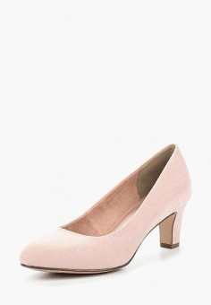 Туфли, Tamaris, цвет: розовый. Артикул: TA171AWACMH5. Обувь / Туфли / Закрытые туфли