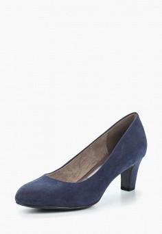 Туфли, Tamaris, цвет: синий. Артикул: TA171AWACMH6. Tamaris