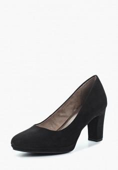 Туфли, Tamaris, цвет: черный. Артикул: TA171AWACMH7. Обувь / Туфли / Закрытые туфли