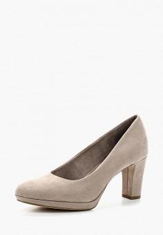 Туфли, Tamaris, цвет: серый. Артикул: TA171AWACMH8. Tamaris