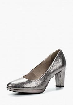 Туфли, Tamaris, цвет: серебряный. Артикул: TA171AWACMI0. Tamaris