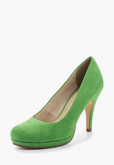 Туфли, Tamaris, цвет: зеленый. Артикул: TA171AWACMN0. Обувь / Туфли / Закрытые туфли