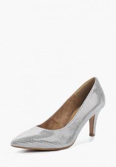 Туфли, Tamaris, цвет: серебряный. Артикул: TA171AWACMN2. Tamaris