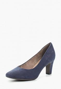 Туфли, Tamaris, цвет: синий. Артикул: TA171AWACMO3. Tamaris