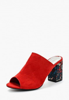 Сабо, Tamaris, цвет: красный. Артикул: TA171AWACNC8. Обувь