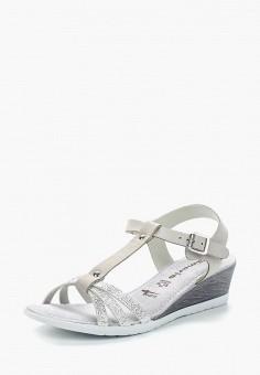 Сандалии, Tamaris, цвет: серый. Артикул: TA171AWACNI1. Tamaris