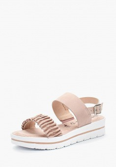 Сандалии, Tamaris, цвет: розовый. Артикул: TA171AWACNM7. Обувь / Сандалии