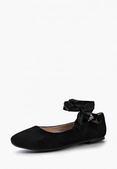 Балетки, Tervolina, цвет: черный. Артикул: TE007AWAEOR0. Обувь