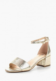 Босоножки, Tervolina, цвет: золотой. Артикул: TE007AWAEOR6. Обувь / Босоножки