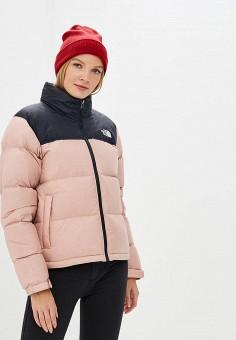 Пуховик, The North Face, цвет: розовый. Артикул: TH016EWCNUV9. Одежда / Верхняя одежда / Зимние куртки