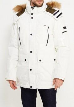 Пуховик, Tommy Hilfiger Denim, цвет: белый. Артикул: TO013EMTOY19. Одежда / Верхняя одежда / Пуховики и зимние куртки