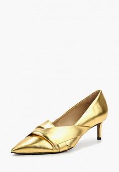Туфли, Topshop, цвет: золотой. Артикул: TO029AWBNNT5. Обувь / Туфли / Закрытые туфли