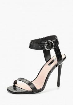 Босоножки, Topshop, цвет: черный. Артикул: TO029AWCETB1. Обувь / Босоножки