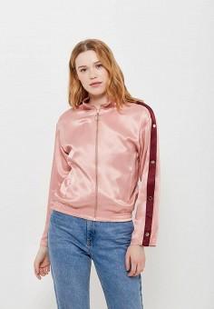Куртка, Topshop, цвет: розовый. Артикул: TO029EWARXJ4. Одежда / Верхняя одежда / Легкие куртки и ветровки
