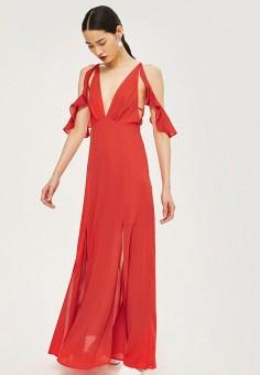 Платье, Topshop, цвет: красный. Артикул: TO029EWBTOW9. Одежда / Платья и сарафаны