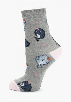 Носки Topshop 08N56MGRY, цвет серый, размер