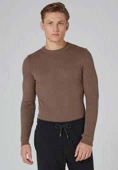 Джемпер, Topman, цвет: коричневый. Артикул: TO030EMYAM64. Одежда / Джемперы, свитеры и кардиганы