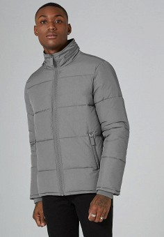 Куртка утепленная, Topman, цвет: серый. Артикул: TO030EMZVG53. Одежда / Верхняя одежда / Пуховики и зимние куртки