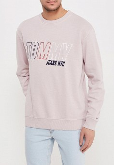 Свитшот, Tommy Jeans, цвет: розовый. Артикул: TO052EMAIHL2. Tommy Jeans