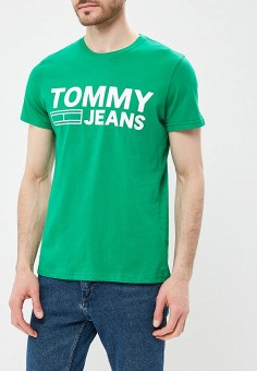 Футболка, Tommy Jeans, цвет: зеленый. Артикул: TO052EMAIHT5. Tommy Jeans